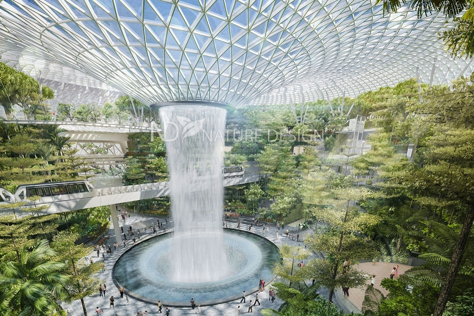 Самый высокий в мире декоративный водопад фото